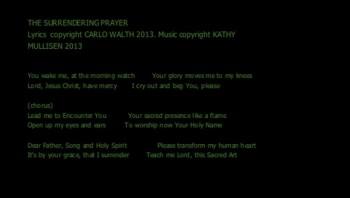 The Surrendering Prayer