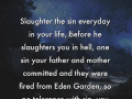 Slaughter them - a word from Lord Jesus