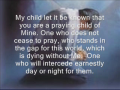 Praying child - Received January 16, 2010