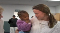 Haiti orphans meet new parents