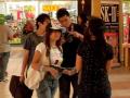 Frozen people in mall