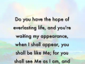 Hope of everlasting life - a word from Lord Jesus