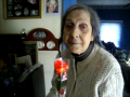 Mom And The Beautiful Flashing Rose
