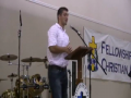 Tebow speaks at an FCA event in Georgia