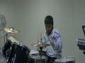 Gaby tocando la bateria 2