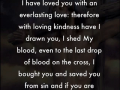 Everlasting love - a word from Lord Jesus