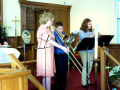 Easter 2010--The Easter Hymn rehearsal