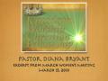 Kingdom Worship Christian Fellowship March 2010 Women's Meeting Excerpt