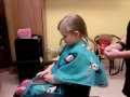 Makayla's first haircut