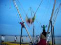 Grace double back, forward flip on trampoline