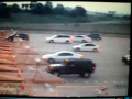 Car Flies At Airport  Toll Booth