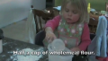 2 year old girl makes pasta from scratch