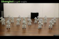 Robots dancing in Synchronized harmony