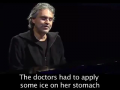"Andrea Bocelli tells a ""little story"" about abortion."