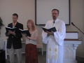 "Special Music: ""Lord of the Worlds Above,"" Trinity Hymnal #302."