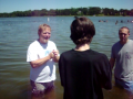 My friend Taylor getting baptised!