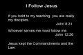 I Follow Jesus
