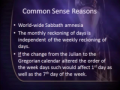 The Calendar Changes Lost the Sabbath 1of2