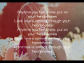 Britt Nicole - Headphones (Acoustic Slideshow With Lyrics)
