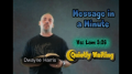 Message in a Minute - Quietly Waiting