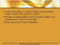 Bible Study - Mk. 4:21-25 A Lamp Is Not Hidden