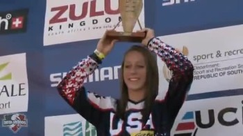 Fleicia Stancil at the 2010 UCI BMX World_s - 15-16 girls cruiser podium