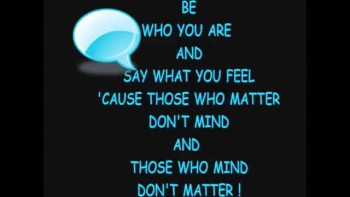Walk In Who You Are!