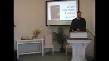 "Catechism: ""Jesus Coming to Judge,"" 10/17/2010. First Presbyterian Church Perkasie, OPC"
