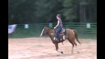 Courtney running barrels on Prayer