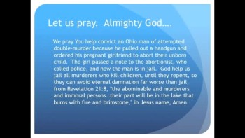Forced Abortion at Gunpoint:  Man threatens girlfriend (The Evening Prayer 03Nov10)