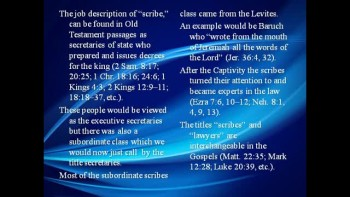 Bible Study - Mk. 12:38-40 Jesus Denounces the Hypocrisy of the Scribes