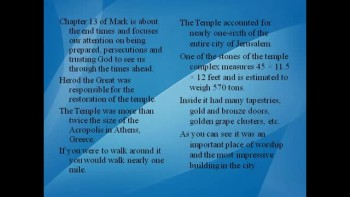 Bible Study – Mark 13:1-8 The Destruction of the Temple Foretold