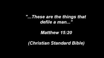 Matthew 15:18...S.T.A.N.D