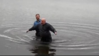 My Baptismal In FREEZING cold water!