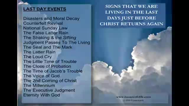 THE SECOND COMING OF CHRIST - Signs That It Will Be Very Soon - Part 2 of 2