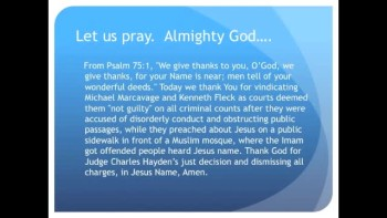 "Evangelists ""Not Guilty,"" arrested for Preaching Christ (The Evening Prayer - 23 Nov 10)"