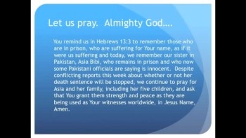Pakistani Christian Woman on Death Row Is Innocent (The Evening Prayer - 03 Dec 10)