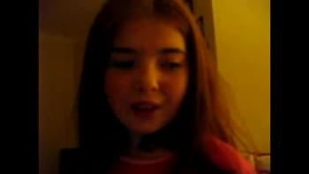 Julie age 9 singing I look to you Practicing Take one