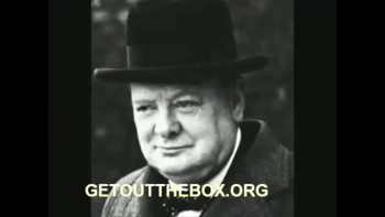"Winston Churchill- ""NEVER GIVE IN"""