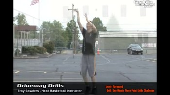 One Minute Three Point Shooting Challenge Drill (Advanced Level): Goalrilla Basketball Academy Driveway Drills