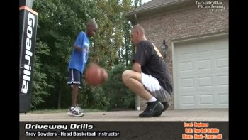 Two Ball Dribble Drill (Beginner Level): Goalrilla Basketball Academy Driveway Drills