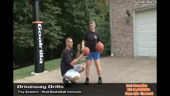Two Ball Dribble Drill (Intermediate Level): Goalrilla Basketball Academy Driveway Drills