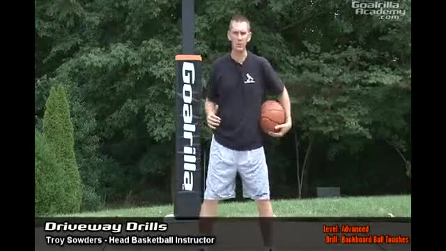 Backboard Ball Touches Rebounding Drill (Advanced Level): Goalrilla Basketball Academy Driveway Drills