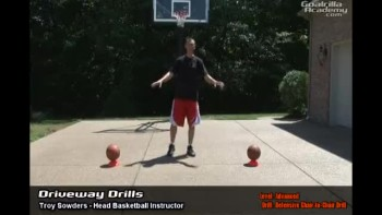 Defensive Chair-to-Chair Drill (Advanced Level): Goalrilla Basketball Academy Driveway Drills