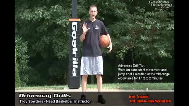 Elbow-to-Elbow Shooting Drill (Advanced Level): Goalrilla Academy Driveway Drills
