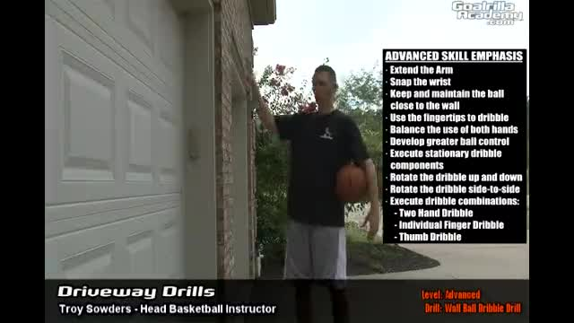 Wall Ball Dribble Drill (Advanced Level): Goalrilla Academy Driveway Drills