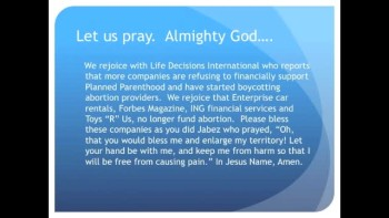 Top Companies Boycott Planned Parenthood Abortion Biz The Evening Prayer - (16 Dec 10)