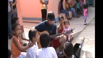 Singing to Kids in Conevisa, Guatemala