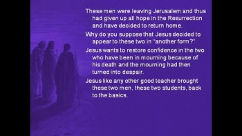 Bible Study - Mark 16:12-13 Jesus Appears to Two Disciples