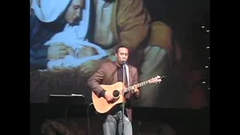 """A king is Born"" Michael Ricks sings at the Christian Leadership Concepts"
